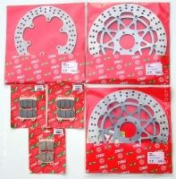 Lucas TRW Brakedisc set front and rear w...