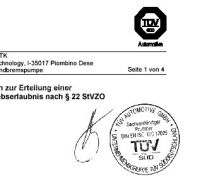 TÜV Certificate Open Intake Air Ducts